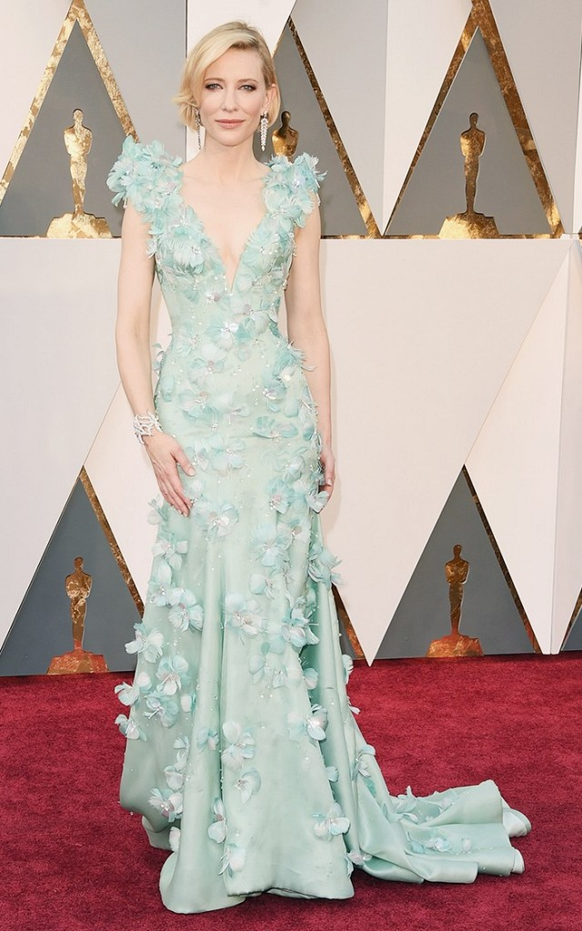 Oscars 2016 Best Dressed Cate Blanchett Armani Prive gown