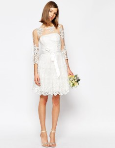 ASOS Bridal lace mini dress