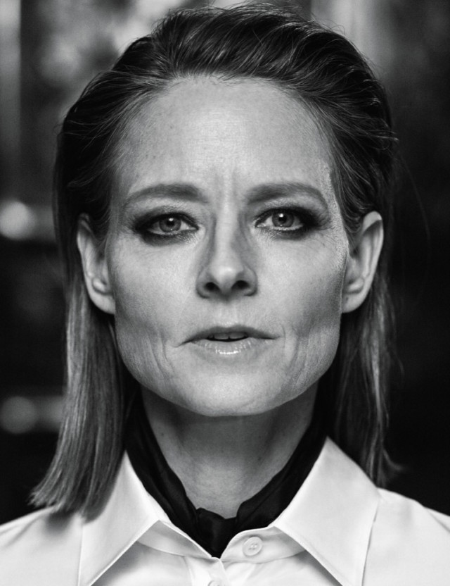 Jodie Foster closeup in Interview Magazine March 2016 shot by Mikael Jansson