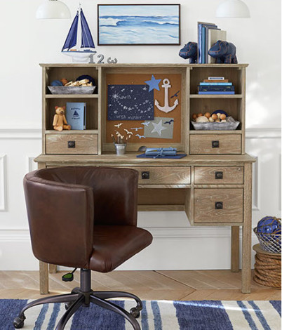 Monique Lhuillier and Pottery Barn Kids desk and chair