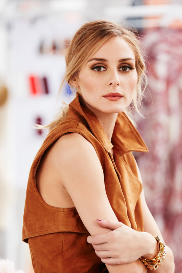 Olivia Palermo + Chelsea 28 sleeveless suede trench dress