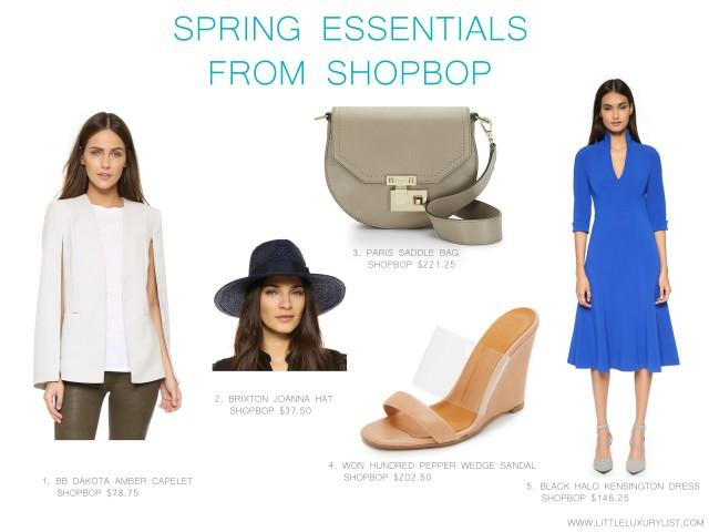 Spring essentials from Shopbop by little luxury list