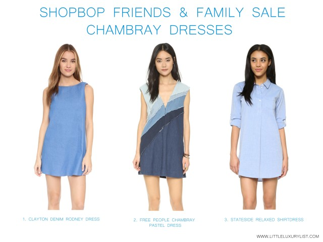 Shopbop friends & family sale chambray dresses