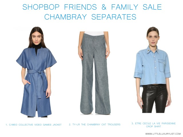 Shopbop friends & family sale chambray separates