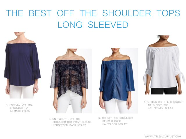 The best off the shoulder tops long sleeved