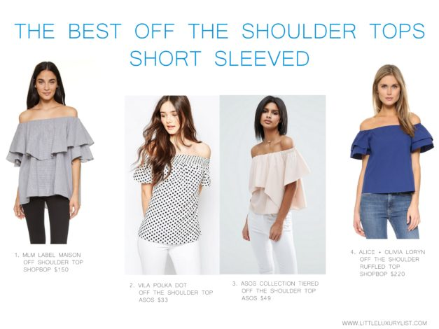 The best off the shoulder tops short sleeved