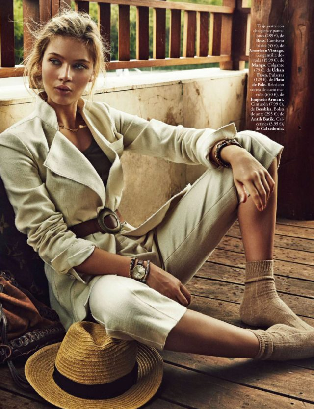 Caroline C in Elle Spain May 2016 Boss jacket