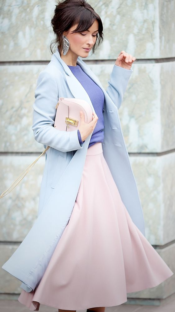 Galant girl outfit rose quartz and serenity pink and blue