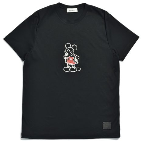 Disney x Coach Mickey Mouse Collaboration black Mickey tee shirt