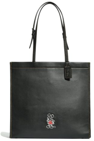 Disney x Coach Mickey Mouse Collaboration black Mickey tote