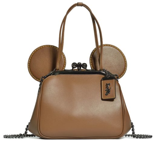 Disney x Coach Mickey Mouse Collaboration dark brown purse