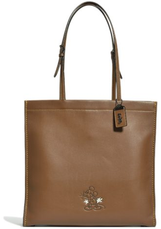 Disney x Coach Mickey Mouse Collaboration dark brown tote
