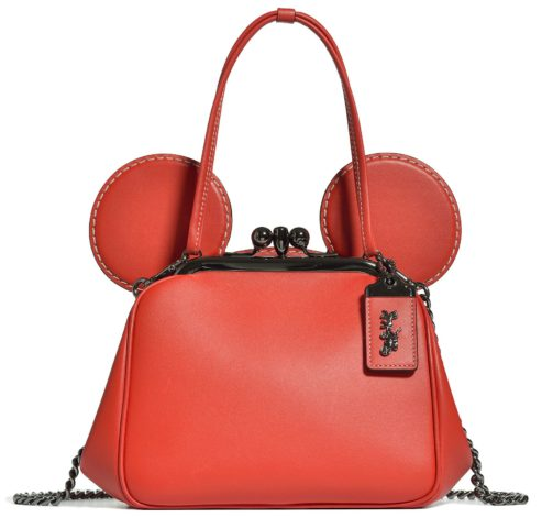 Disney x Coach Mickey Mouse Collaboration red purse with Mickey ears