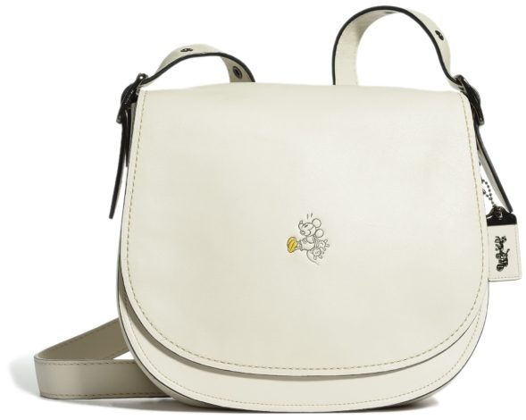 Disney x Coach Mickey Mouse Collaboration white saddlebag