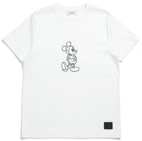 Disney x Coach Mickey Mouse Collaboration white tee shirt