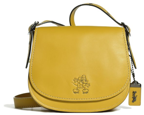 Disney x Coach Mickey Mouse Collaboration yellow saddlebag