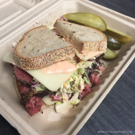 Wise Guys pastrami sandwich