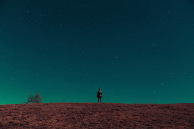 Mountainscapes by Paolo Pettigiani solitary figure