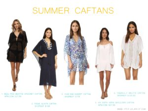 Summer caftans by little luxury list