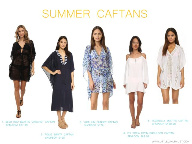 Caftans for Summer by little luxury list