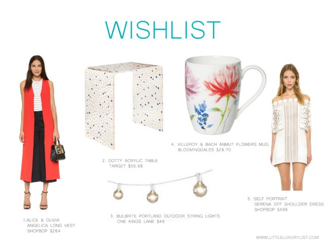 Wishlist - June 2016 by little luxury list