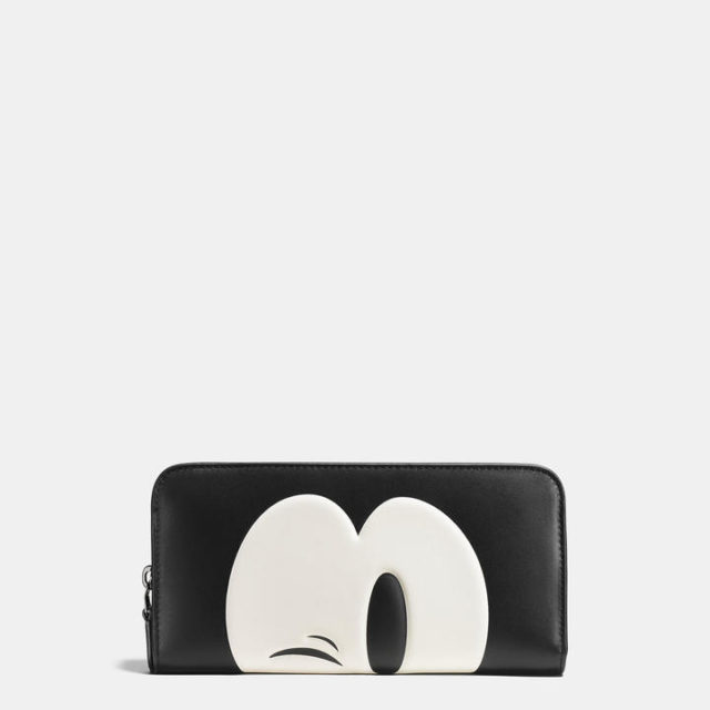 Disney x Coach Mickey Mouse Collaboration accordion zip wallet