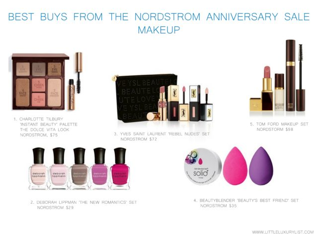 Best buys from the Nordstrom Anniversary sale - makeup - by little luxury list
