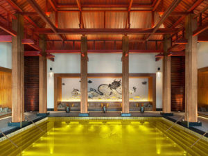 Extraordinary swimming pools around the world st. Regis Lhasa gold energy pool