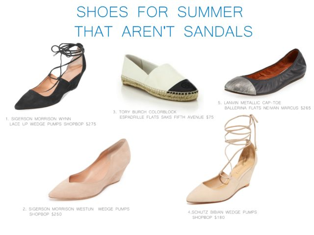 Shoes for summer that aren't sandals by little luxury list