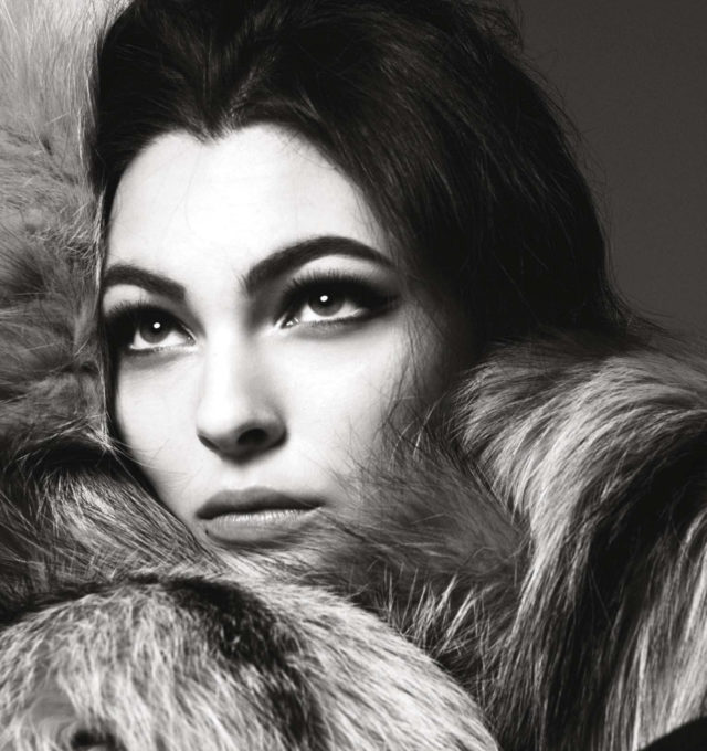 VOGUE ITALIA JULY 2016 - VITTORIA CERETTI BY STEVEN MEISEL fur coat