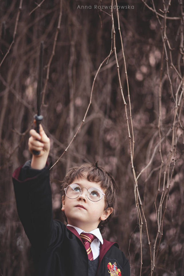 cute kids dressed as famous movie characters-Harry Potter 2