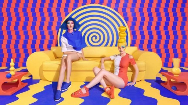Sagmeister & Walsh for Aizone yellow couch