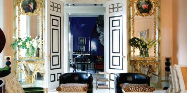 Black and white decor SASHA-BIKOFF-INTERIOR-DESIGN-NEW-YORK-DAKOTA-PHOTO by Nicole Cohen