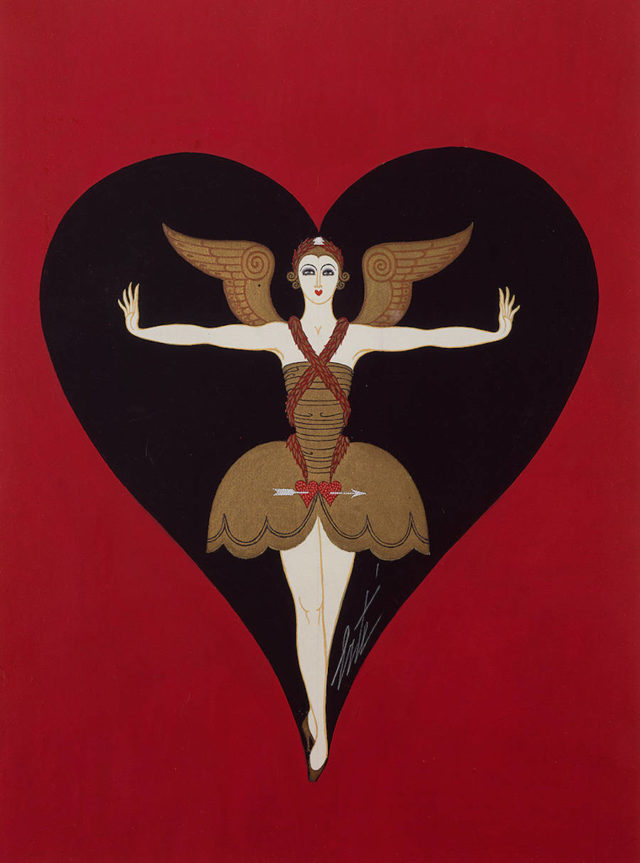 Erté Art Deco Drawings Costume pour Manhattan Mary, 1927