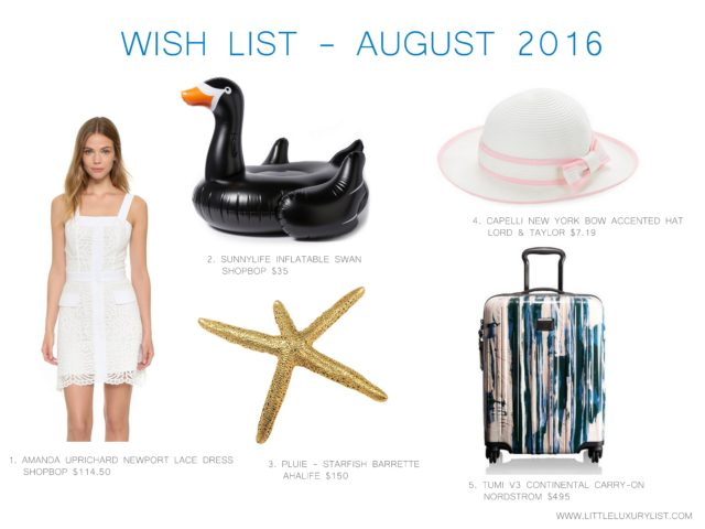 Wish List - August 2016 by little luxury list