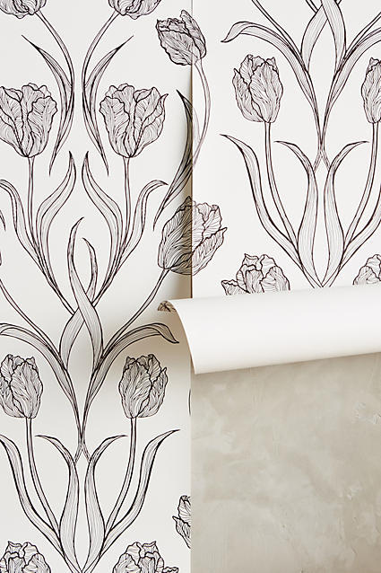 anthropologie dutch garden wallpaper
