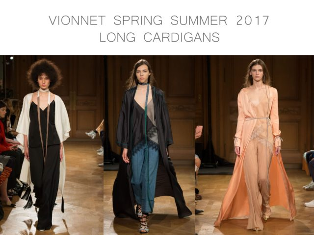 Vionnet Spring Summer 2016 long cardigans by little luxury list