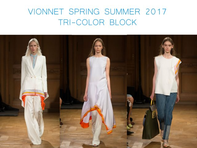 Vionnet Spring Summer 2016 tri color block by little luxury list