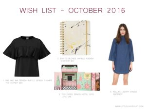 Wish List - October 2016