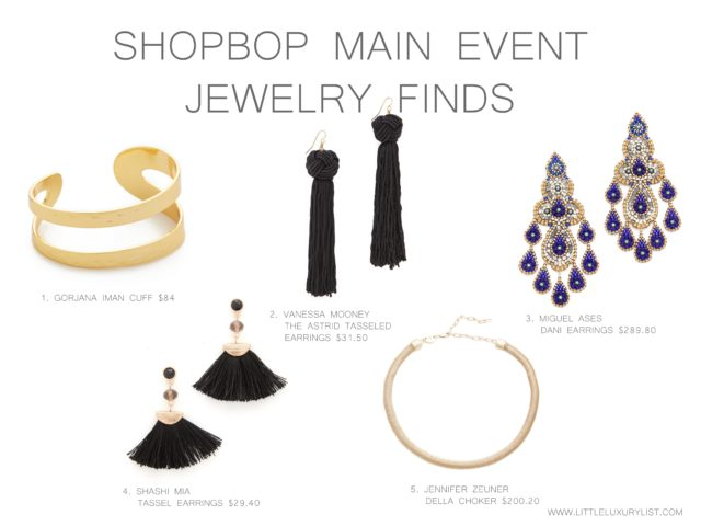 Early holiday shopping during Shopbop Main Event jewelry finds