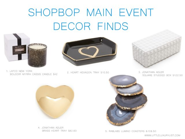 Early holiday shopping during Shopbop Main Event decor finds