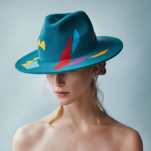 laura apsis livens decorated hats teal