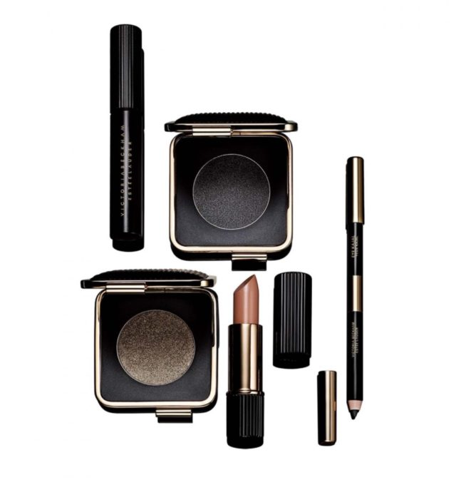 victoria beckham x estee lauder makeup london look