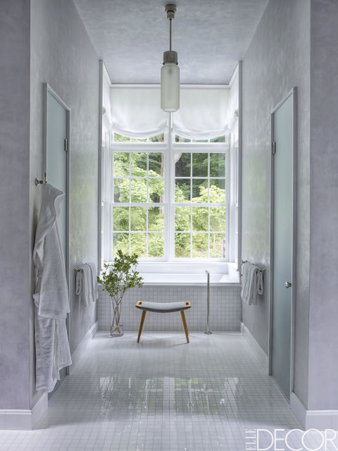 the best white bathrooms Carol Egan on Elle Decor