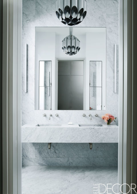 Interior Elle Decor Bathrooms the best white bathrooms soho example on elle decor little decor