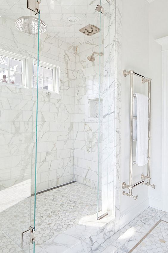 the best white bathrooms Home Bunch with  statement shower