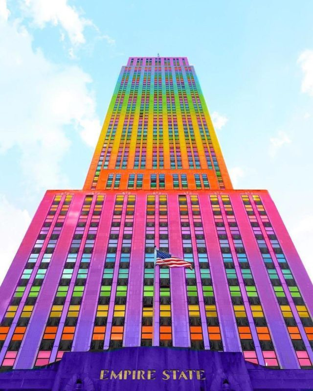 Technicolor buildings by Ramsy Mazri Empire State building