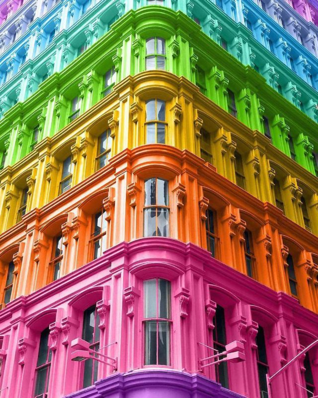 Technicolor buildings by Ramsy Mazri Flatiron building