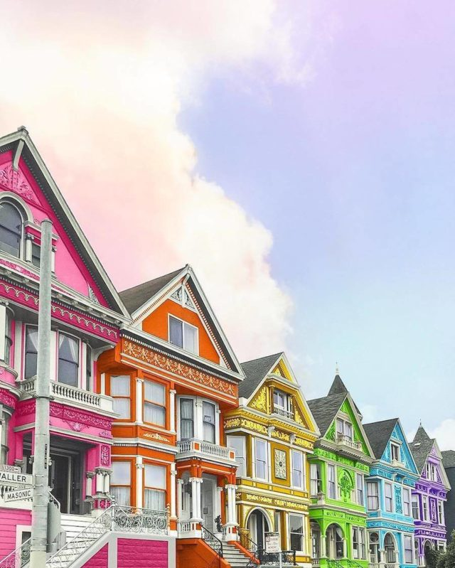 Technicolor buildings by Ramsy Mazri San Francisco houses