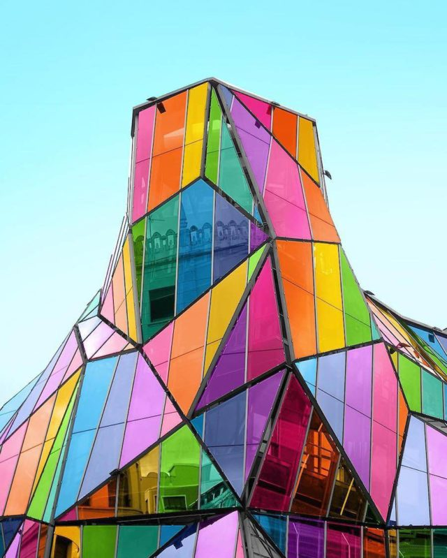 Technicolor buildings by Ramsy Mazri multifaceted building